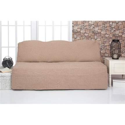 Чехол на трехместный диван без подлокотников и оборки Venera, бежевый