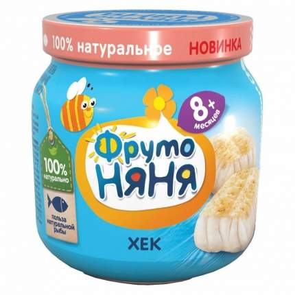 Пюре рыбное ФрутоНяня Хек, 80 г