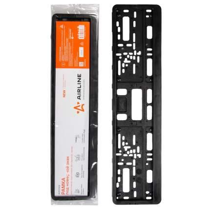 Рамка под номерной знак, двусоставная, евро-книжка (без надписи), черная AIRLINE ADFC002