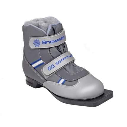 Ботинки для беговых лыж Spine Kids Velcro 104 2020, серые, 35