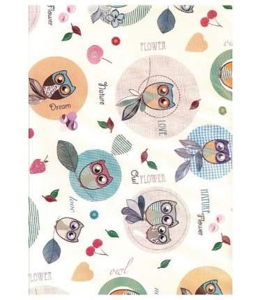 Клеенка Колорит Совы с окантовкой, с ПВХ покрытием, 50х70 см