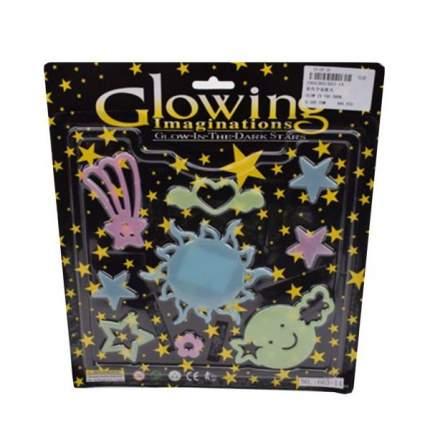 Набор наклеек Наша игрушка Светлячки - космос 9 шт., флуоресцентные