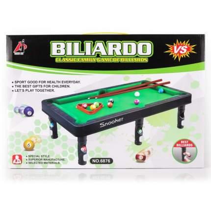 Настольная игра Di Hong Бильярд, 11 шаров, 44х24,5х3 см