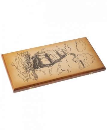 Нарды большие Colton тонированные, деревянные шашки