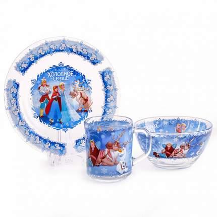 Набор посуды детский Опытный стекольный завод Холодное сердце