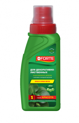 Минеральное удобрение комплексное Bona Forte BF21010261 для декоративно-лиственных 285 мл
