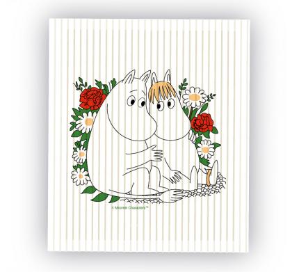 Кухонная салфетка Moomin Муми-Тролль и Фрекен Снорк