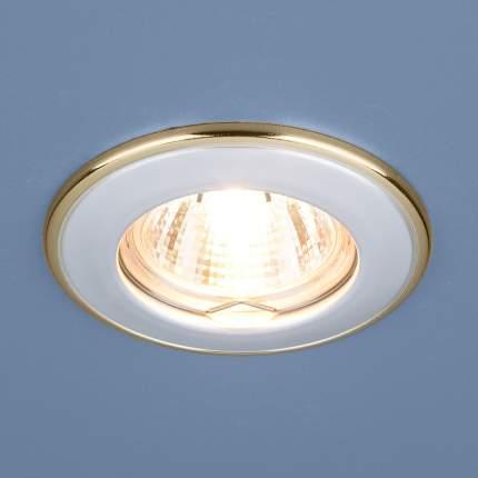 Встраиваемый светильник Elektrostandard 7002 MR16 WH/GD белый/золото