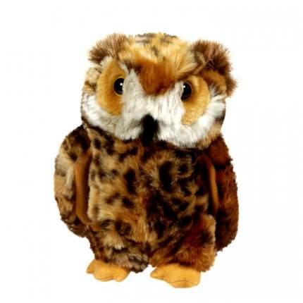 Мягкая игрушка Keel toys сова коричневая, 18 см