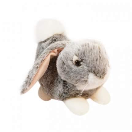 Мягкая игрушка Keel toys лежащий кролик серый, 23 см