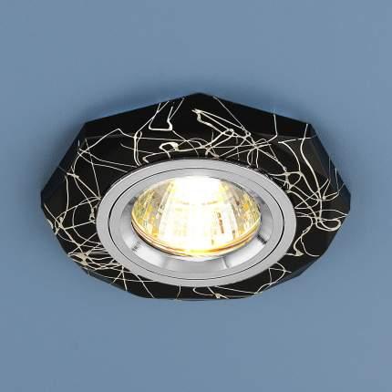 Встраиваемый точечный светильник Elektrostandard 2040 MR16 BK/SL Черный/Серебро