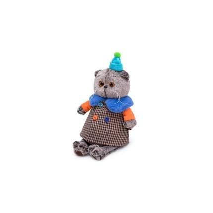 Мягкая игрушка BUDI BASA Басик в комбинированном пальто, 22 см