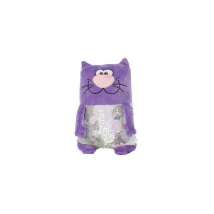 Мягкая игрушка KiddieArt Модный фиолетовый кот, 43 см