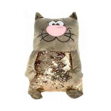 Мягкая игрушка KiddieArt Модный серый кот, 43 см