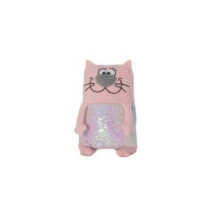 Мягкая игрушка KiddieArt Модный розовый кот, 43 см