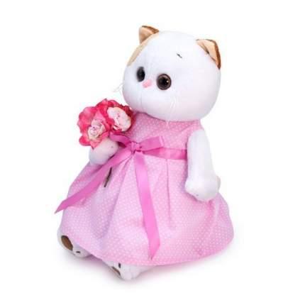 Мягкая игрушка BUDI BASA Кошечка Ли-Ли в розовом платье с букетом, 24 см