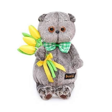 Мягкая игрушка BUDI BASA Басик с желтыми тюльпанами, 19 см