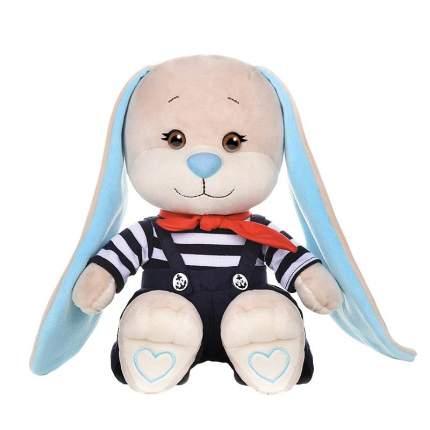 Мягкая игрушка Jack&Lin Зайчик в полосатой кофточке и синих штанишках, 25 см