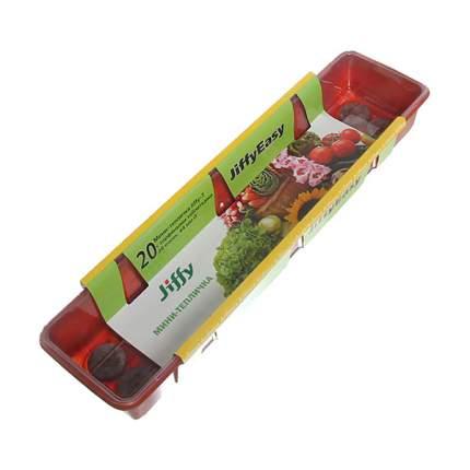 3 длинные мини-теплички Джиффи (20 ячеек) + 60 кокосовых таблеток 50 мм