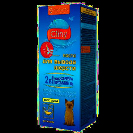 Паста для выведения шерсти для кошек и хорьков Cliny со вкусом сыра 30мл