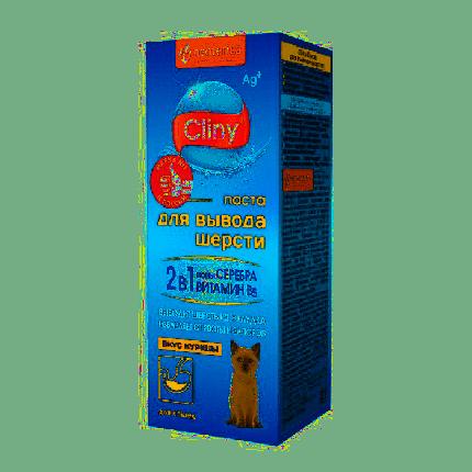 Паста для выведения шерсти для кошек и хорьков Cliny со вкусом курицы 30мл
