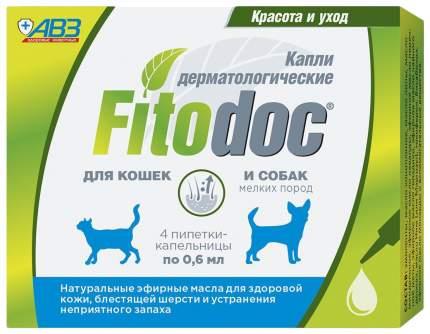 Fitodoс Капли для собак мелких пород дерматологические, 4 х 0,6 мл
