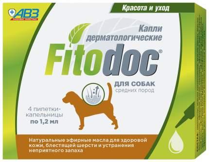 Fitodoс Капли для собак средних пород дерматологические, 4 х 1,2 мл