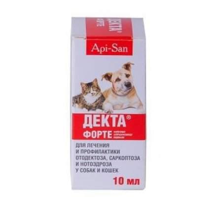 Ушные капли для кошек и собак Api-San ДЕКТА Форте, 10 мл