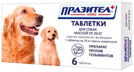 Антигельминтик Празител плюс таблетки для собак и щенков средних и крупных пород, 6 таб