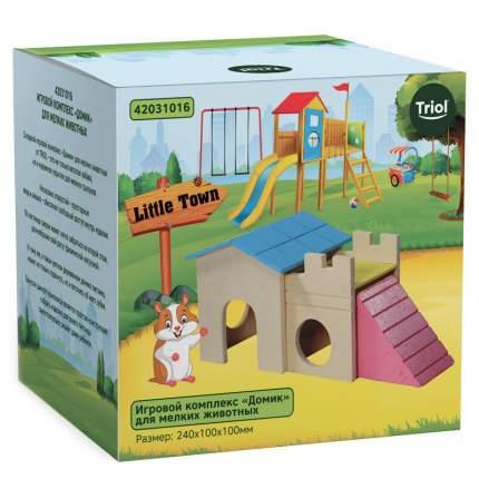Домик для мышей, хомяков Triol дерево, пластик 10х10х24см
