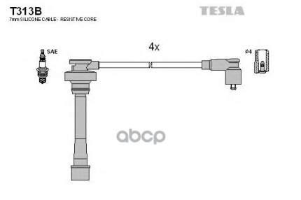Провода Зажигания (комплект) TESLA T313B