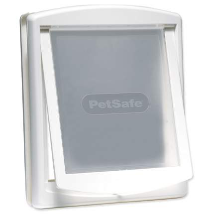 дверка пластиковая для животных, белая рама, прозрачная дверца 37*31,4 см