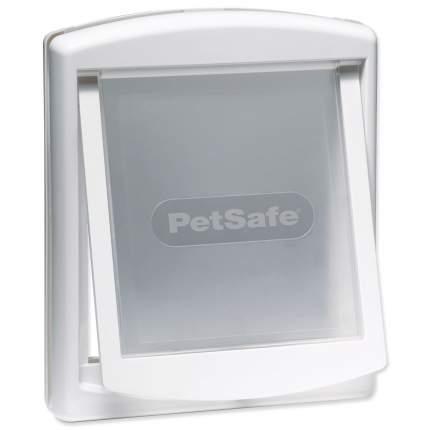 дверка пластиковая для животных, белая рама, прозрачная дверца 28,1*23,7 см