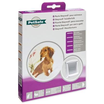 дверка пластиковая для животных, белая рама, прозрачная дверца 18,5*15,8 см