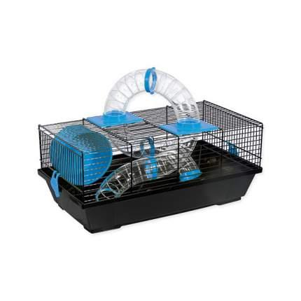 клетка для грызунов Либор черная с синими аксессуарами  50,5*28*21 см
