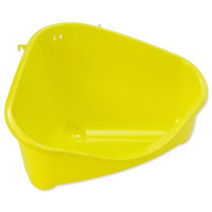 туалет пластиковый угловой для грызунов 49,4*33,5*26,2 см