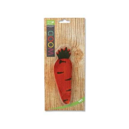 Игрушка для грызунов Small Animals морковь, дерево, оранжевый