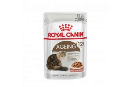 Сухой корм для кошек ROYAL CANIN Ageing Senior, мясо, +2шт пауч, 0.4кг
