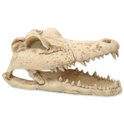 Декорация для террариума Repti Planet Череп крокодила, полиэфирная смола, 13х10х6 см