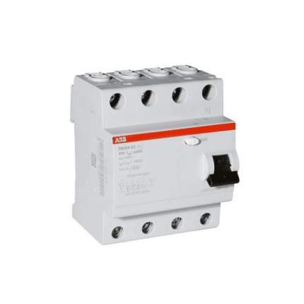 """Выключатель дифференциального тока (УЗО) ABB """"FH204"""", 4п, 40 А, 30 мА, тип AC"""