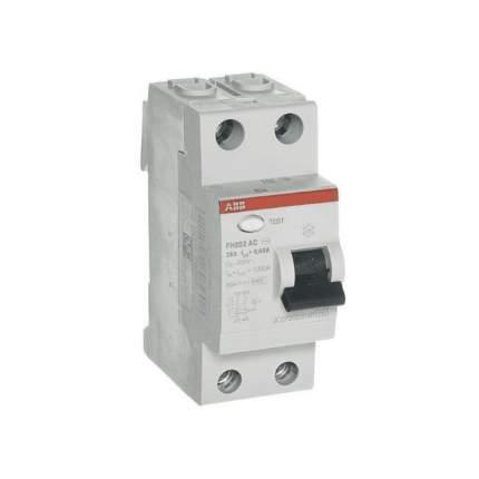 """Выключатель дифференциального тока (УЗО) ABB """"FH202"""", 2п, 25 А, 30 мА, тип AC"""