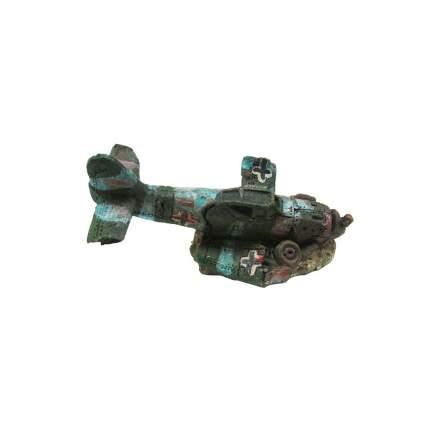 Декорация для аквариума Prime Затонувший самолет мини, пластик, 8х4.5х4.5 см