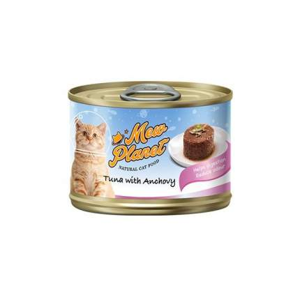 Консервы для кошек Pettric Mew Planet, паштет с тунцом и анчоусами, 160г