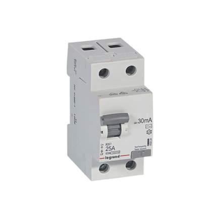 "Выключатель дифференциального тока (УЗО) Legrand ""RX3"", 2 п, 25 А, 30 мА, тип AC"