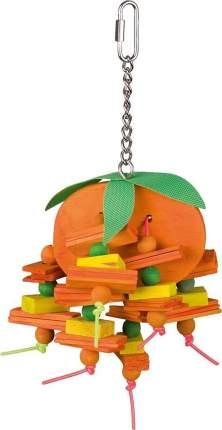 Подвеска для птиц Nobby, дерево, металл, текстиль, 9x21см