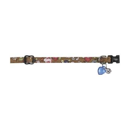 Ошейник для кошек Nobby ЦВЕТОЧНЫЙ полиэстер, коричневый, 20-30 см