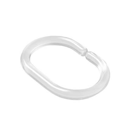 Набор колец для шторы в ванную комнату  IDDIS Transparent RID012P