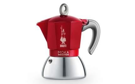 Гейзерная кофеварка Bialetti New Moka Induction Red 4 порции