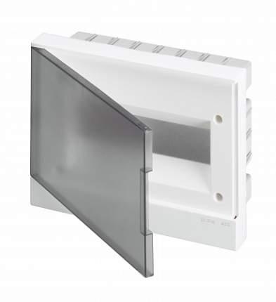 Бокс в нишу Basic E 12М, серый, прозрачная дверь (с клеммным блоком)