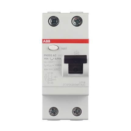 """Выключатель дифференциального тока (УЗО) ABB """"FH202"""", 2п, 40 А, 30 мА, тип AC"""